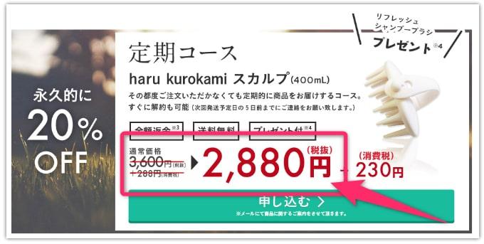 haru 黒髪スカルプ・プロキャンペーン